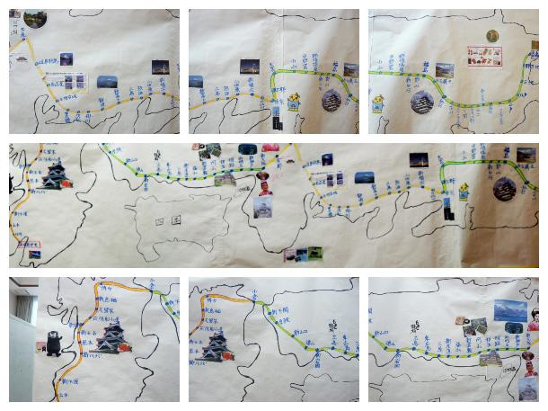 本州縦横断歩行の旅マップ